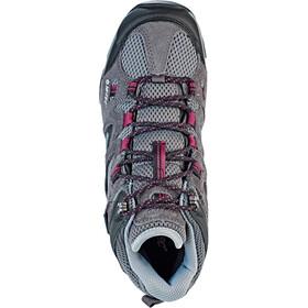 Hi-Tec Ravus Vent Mid WP Shoes Damen charcoal/cool grey/amaranth
